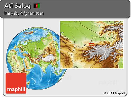 Physical Location Map of Atī Saloq