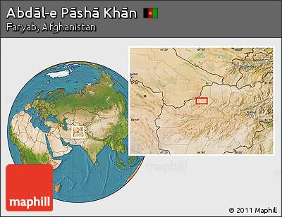 Satellite Location Map of Abdāl-e Pāshā Khān