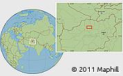 Savanna Style Location Map of Ābdān