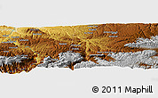 """Physical Panoramic Map of the area around 35°52'19""""N,67°13'29""""E"""