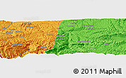"""Political Panoramic Map of the area around 35°52'19""""N,67°13'29""""E"""