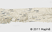 """Shaded Relief Panoramic Map of the area around 35°52'19""""N,67°13'29""""E"""