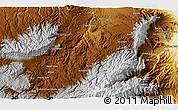 Physical 3D Map of Āqcheshmeh