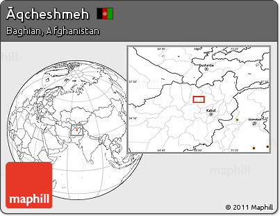 Blank Location Map of Āqcheshmeh