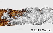 Physical Panoramic Map of Owlād