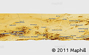 Physical Panoramic Map of Mechta Ouled Aouadj