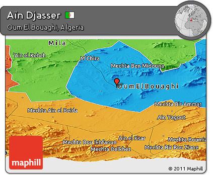 Political Panoramic Map of Aïn Djasser