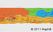 Political Panoramic Map of Mechta Oulad Mehenna