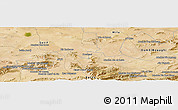 Satellite Panoramic Map of Mechta Oulad Mehenna