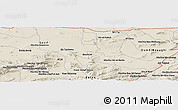 Shaded Relief Panoramic Map of Mechta Oulad Mehenna