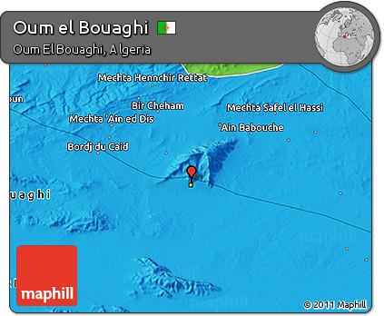 Political 3D Map of Oum El Bouaghi