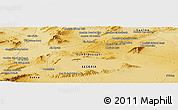Physical Panoramic Map of Mechtat el Argaouat
