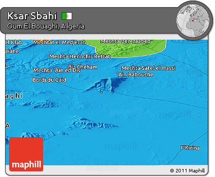 Political Panoramic Map of Ksar Sbahi