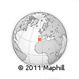"""Outline Map of the Area around 35° 52' 19"""" N, 6° 43' 29"""" W, rectangular outline"""