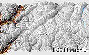 """Physical 3D Map of the area around 35°52'19""""N,72°19'29""""E"""