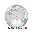 Outline Map of Golen, rectangular outline