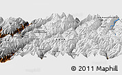 """Physical Panoramic Map of the area around 35°52'19""""N,72°19'29""""E"""