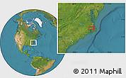 Satellite Location Map of Alligator