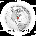 Outline Map of Apex, rectangular outline