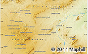 Physical Map of Mechtat el Merouani
