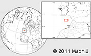"""Blank Location Map of the area around 35°52'19""""N,7°34'30""""W"""