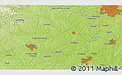 """Physical 3D Map of the area around 35°52'19""""N,80°40'30""""W"""
