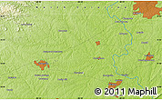 """Physical Map of the area around 35°52'19""""N,80°40'30""""W"""