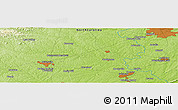 """Physical Panoramic Map of the area around 35°52'19""""N,80°40'30""""W"""