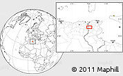 """Blank Location Map of the area around 35°52'19""""N,8°34'29""""E"""