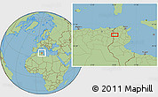 "Savanna Style Location Map of the area around 35°52'19""N,8°34'29""E"