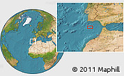 """Satellite Location Map of the area around 35°52'19""""N,8°25'30""""W"""