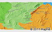 Political 3D Map of Siliana