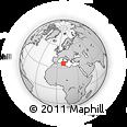 Outline Map of Siliana, rectangular outline
