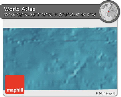 """Satellite 3D Map of the Area around 35°52'19""""N,9°16'30""""W"""