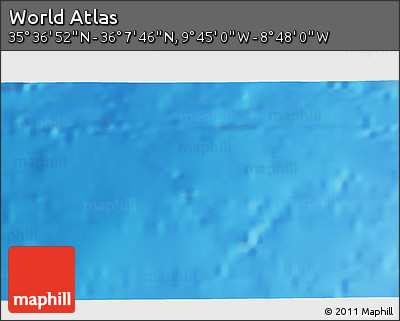"""Shaded Relief 3D Map of the Area around 35°52'19""""N,9°16'30""""W"""