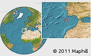 """Satellite Location Map of the area around 35°52'19""""N,9°16'30""""W"""