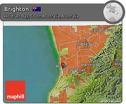 3d Map Of South Australia.Free Satellite 3d Map Of Brighton