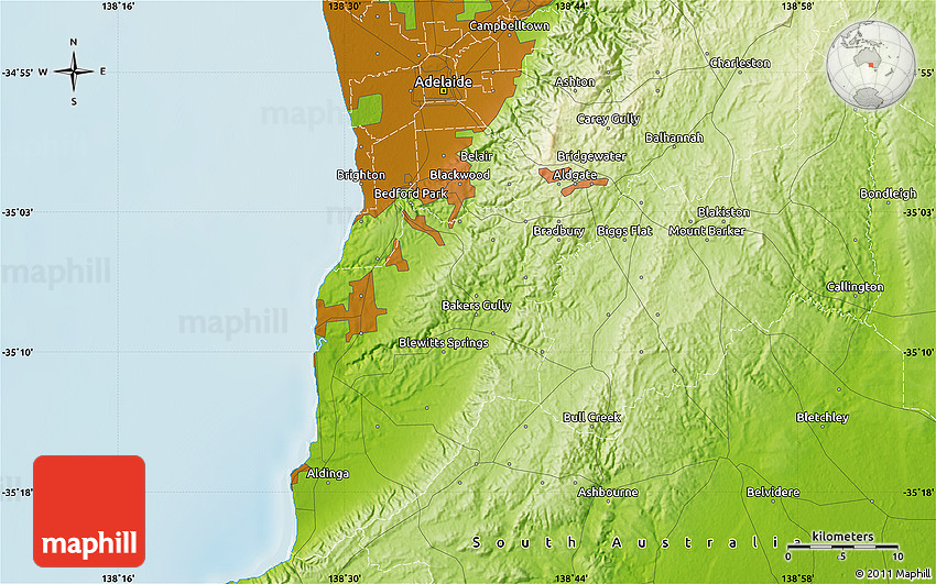 Physical map of mclaren vale for Landscaping adelaide north