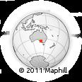 Outline Map of Tailem Bend, rectangular outline