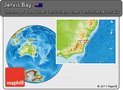 Australia Map Jervis Bay.Free Physical Location Map Of Jervis Bay