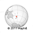 Outline Map of Manukau, rectangular outline
