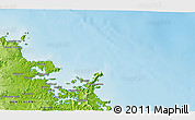 """Physical 3D Map of the area around 35°6'5""""S,174°19'29""""E"""