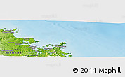 """Physical Panoramic Map of the area around 35°6'5""""S,174°19'29""""E"""