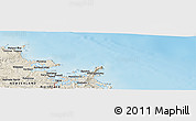 """Shaded Relief Panoramic Map of the area around 35°6'5""""S,174°19'29""""E"""