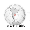 Outline Map of Maldonado, rectangular outline