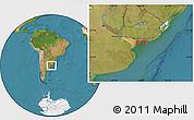 Satellite Location Map of Aguada