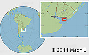 Savanna Style Location Map of Aguada