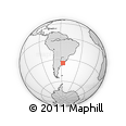 """Outline Map of the Area around 35° 6' 5"""" S, 56° 52' 30"""" W, rectangular outline"""