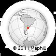 Outline Map of La Plata, rectangular outline