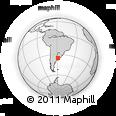 Outline Map of San Vicente, rectangular outline